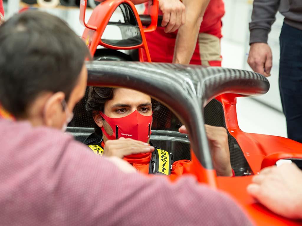 Carlos Sainz Ferrari seat fit