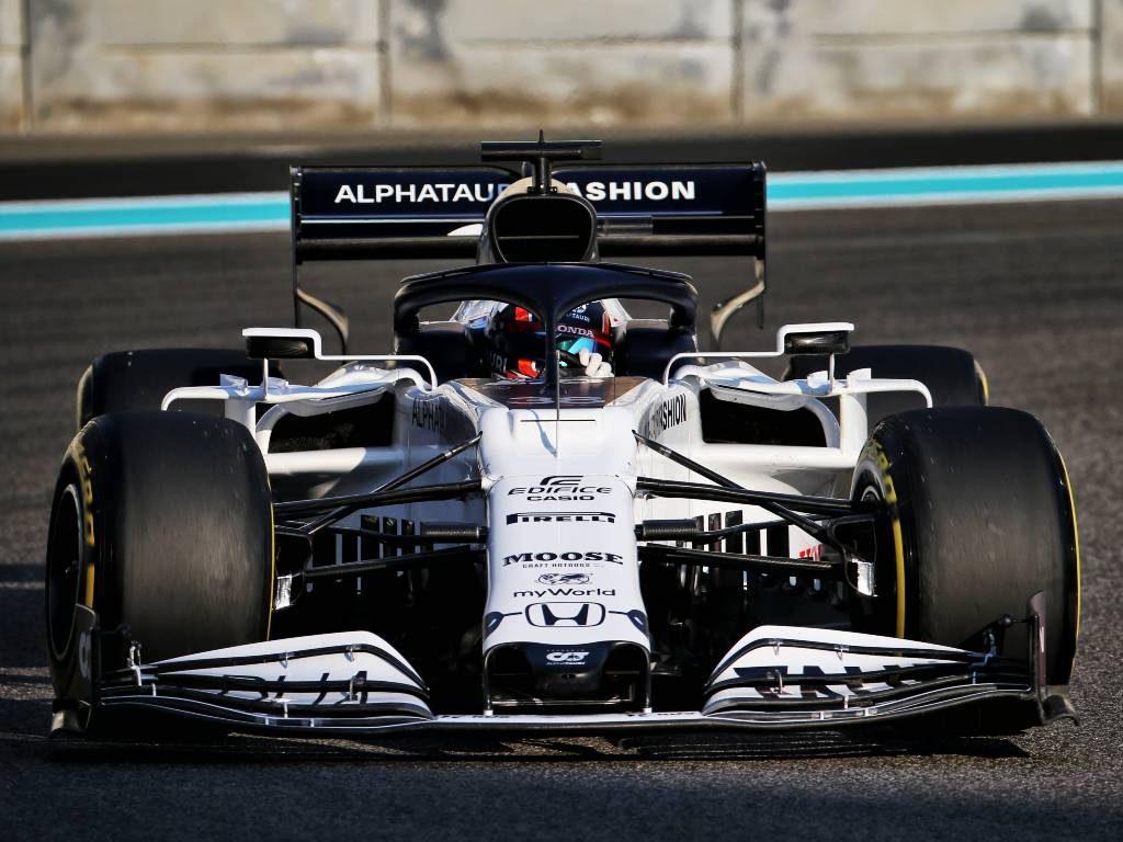 Yuki Tsunoda in the AlphaTauri during the Abu Dhabi post-season test