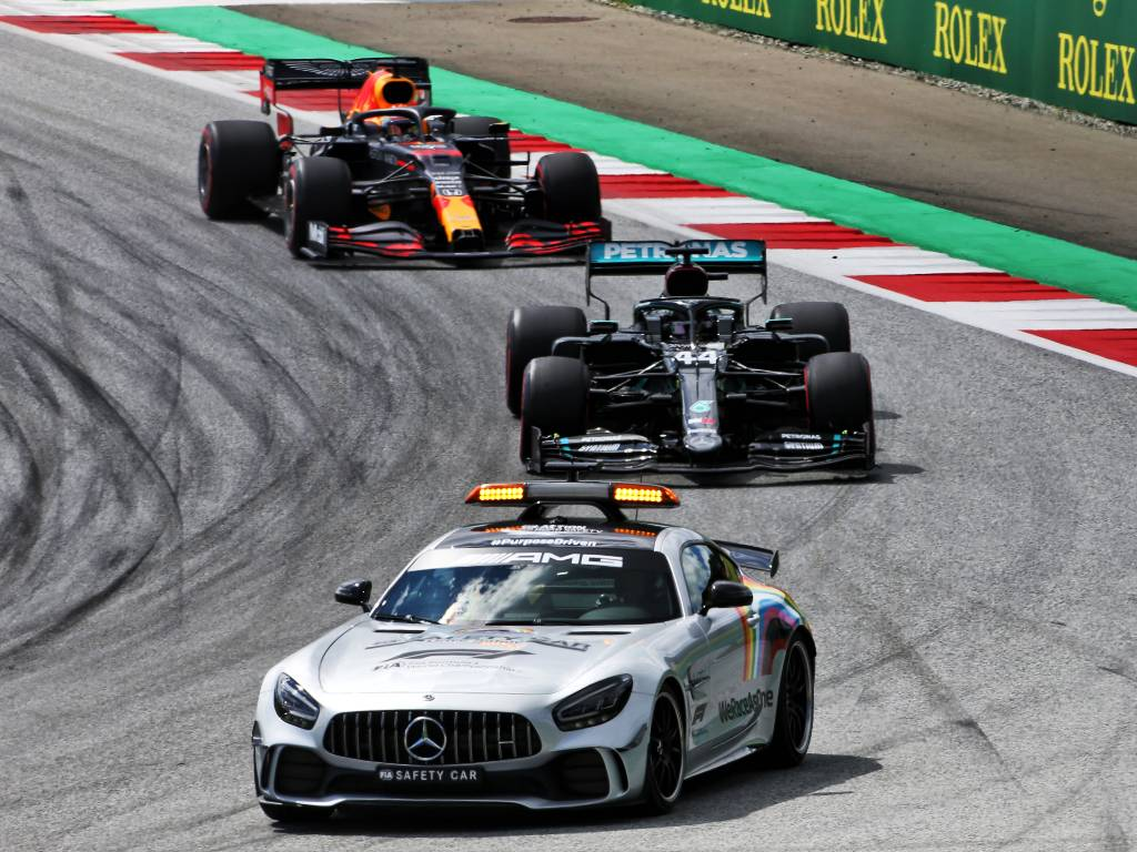 Lewis Hamilton, Mercedes, behind the Safety Car
