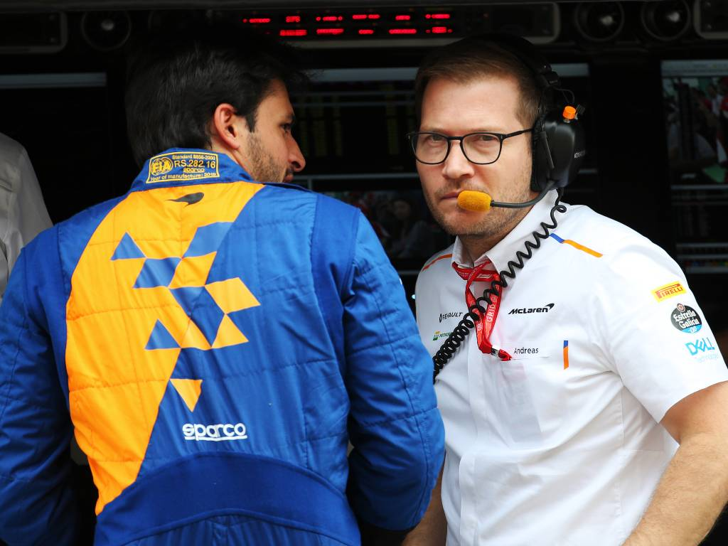 Carlos Sainz and Andreas Seidl