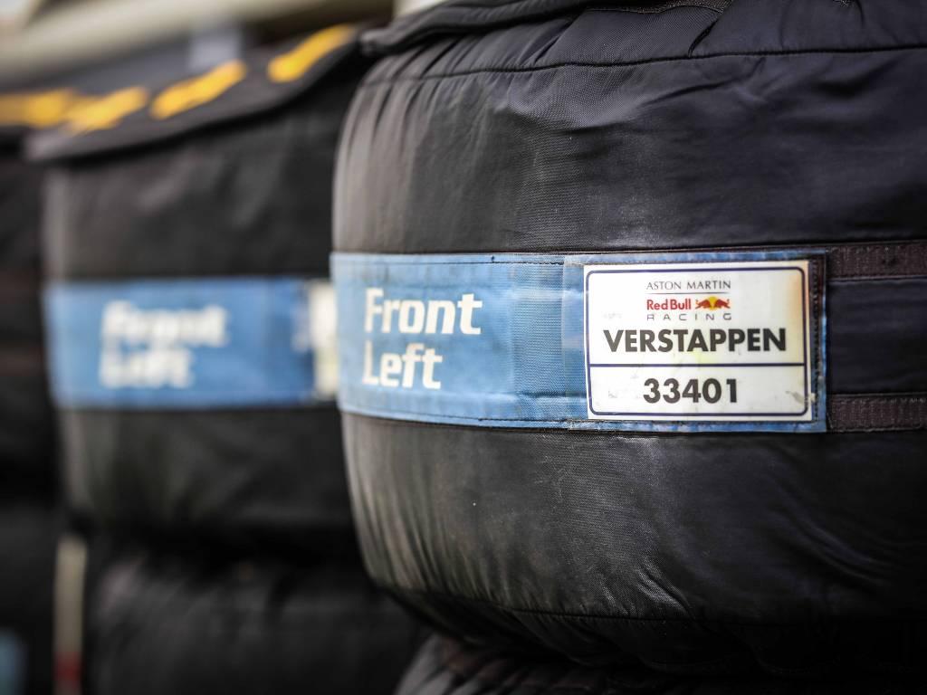 Wrapped Pirelli tyres