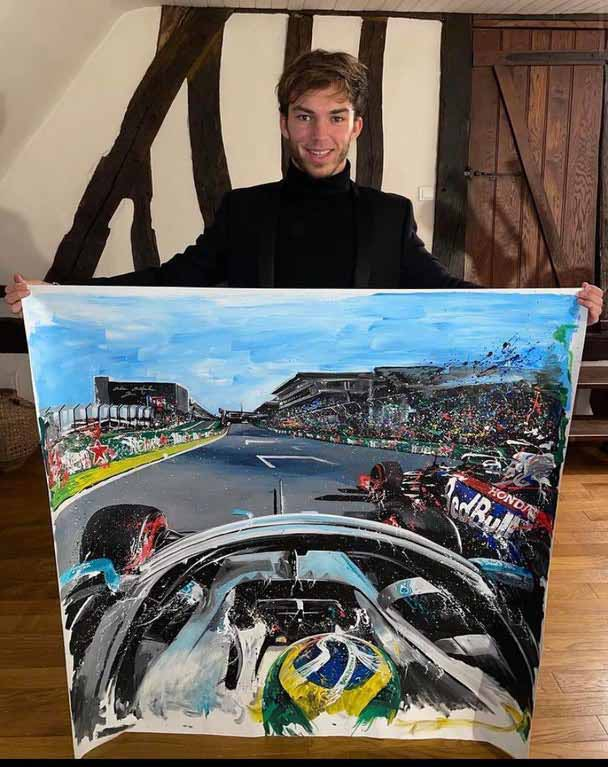 Pierre Gasly painting