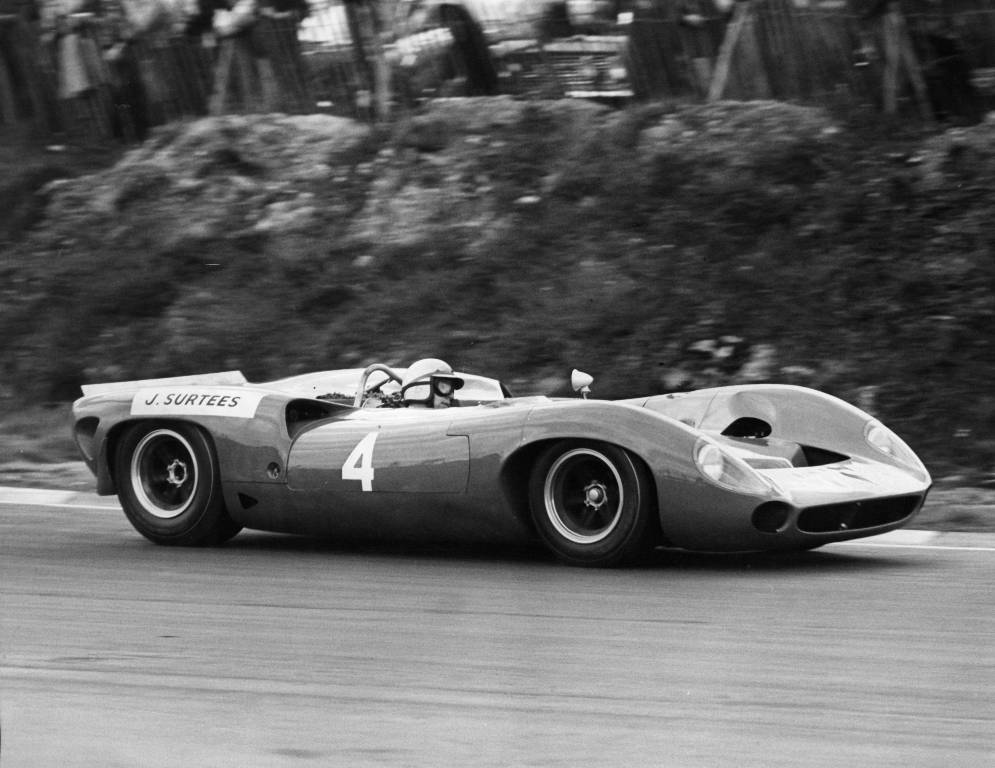 John Surtees in a 1965 Lola