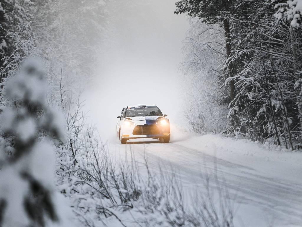 Valtteri Bottas during the Arctic Rally shakedown
