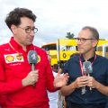 Mattia Binotto and Stefano Domenicali