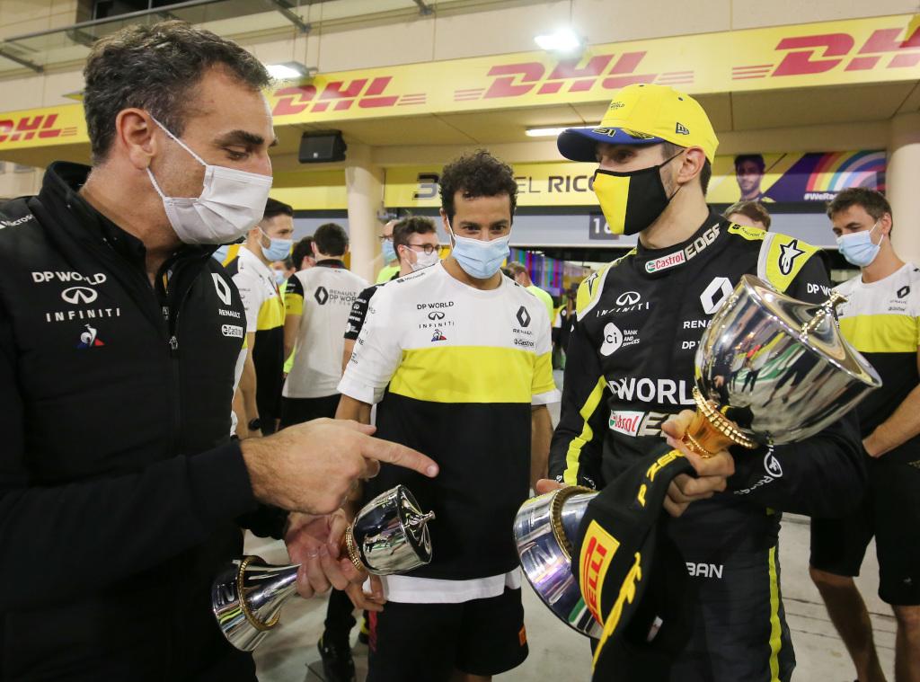Esteban Ocon and Cyril Abiteboul P2
