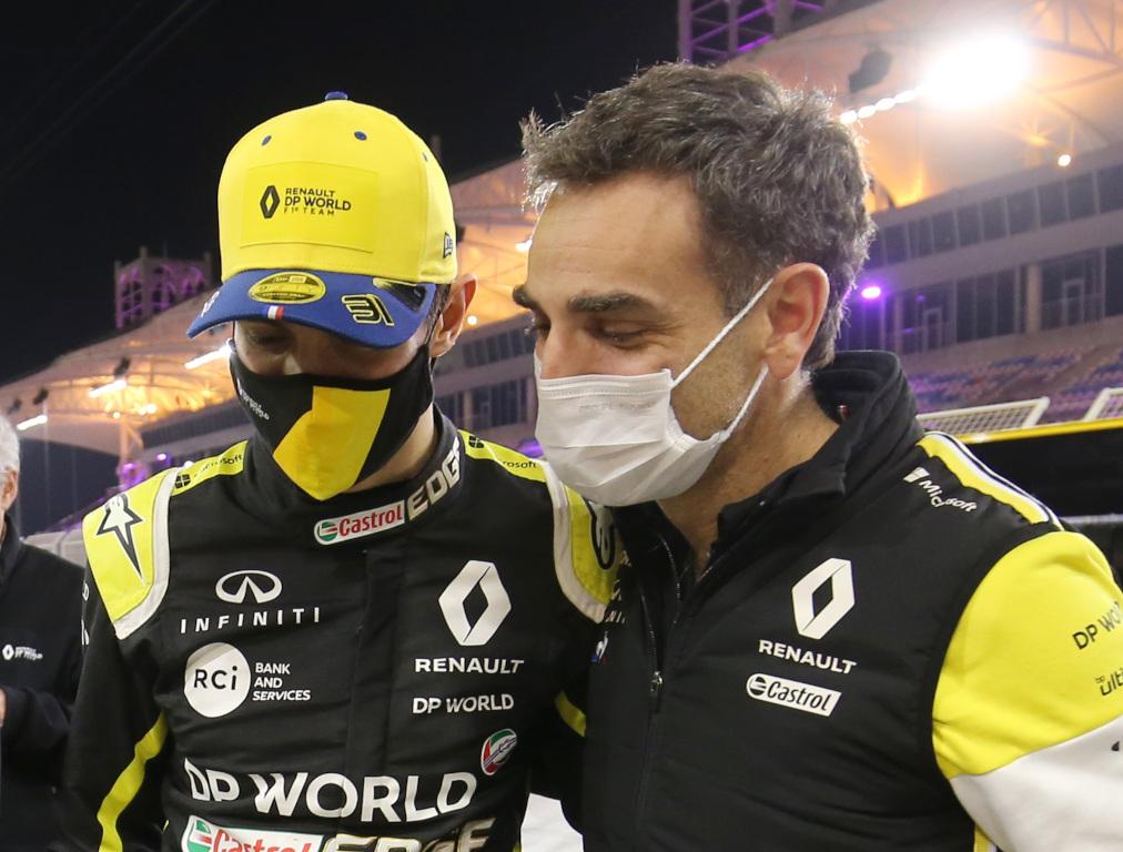 Esteban Ocon and Cyril Abiteboul