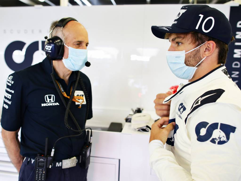 Franz Tost and Pierre Gasly of AlphaTauri