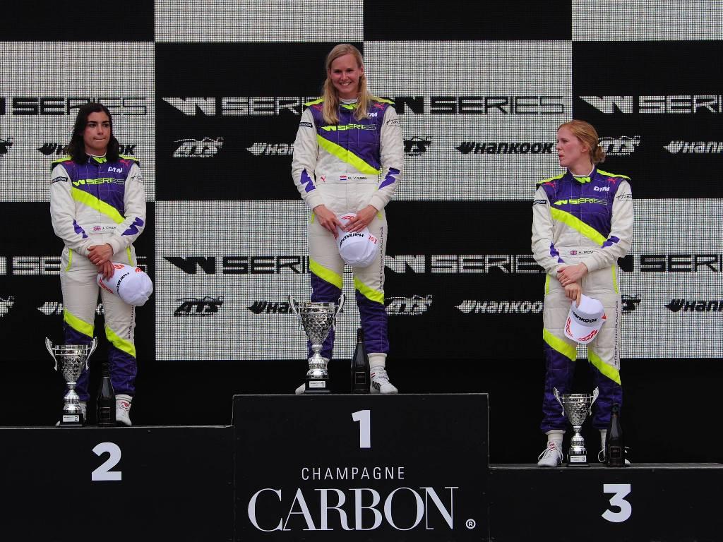 Beitske Visser on top of the W Series podium