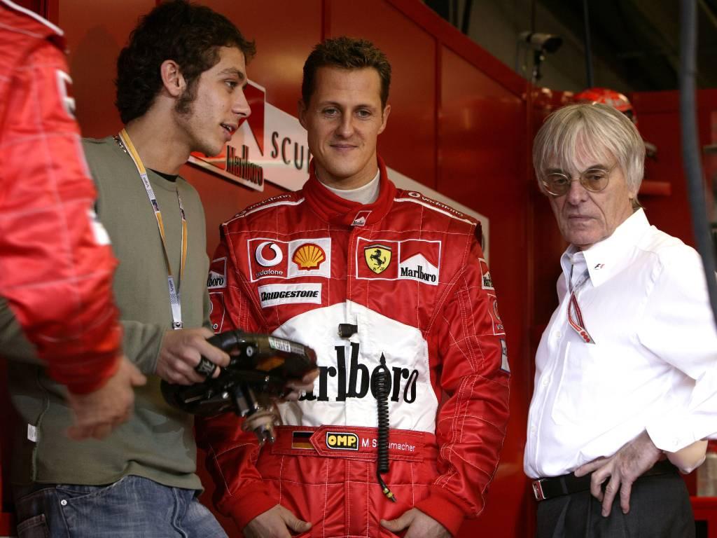 Valentino Rossi, Michael Schumacher, Bernie Ecclestone