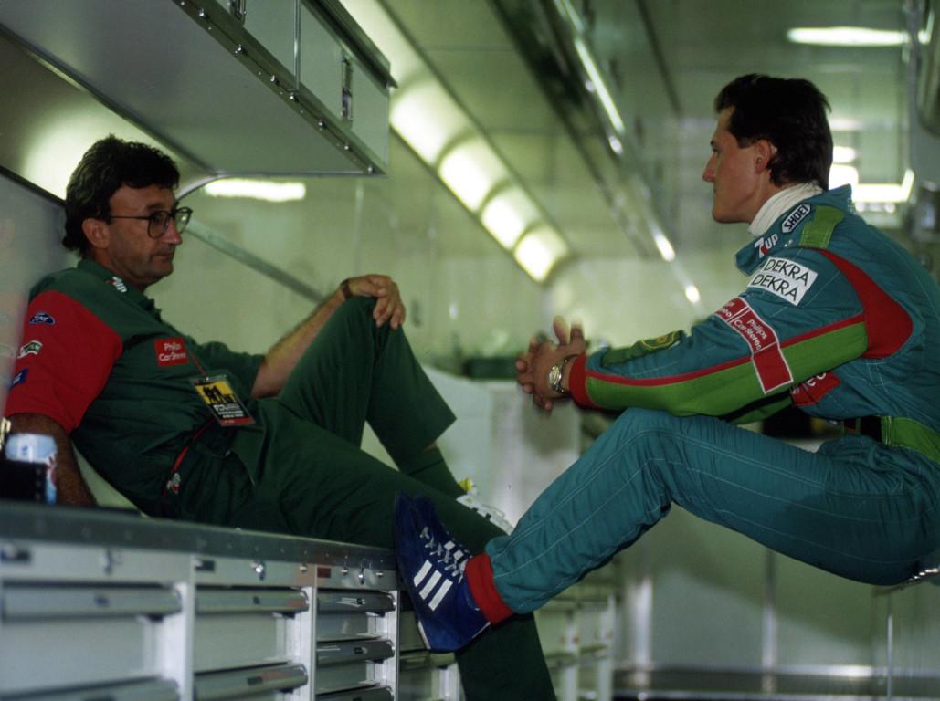 Eddie Jordan and Michael Schumacher