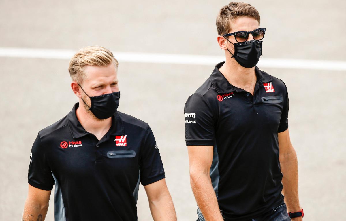 Kevin Magnussen Romain Grosjean Haas