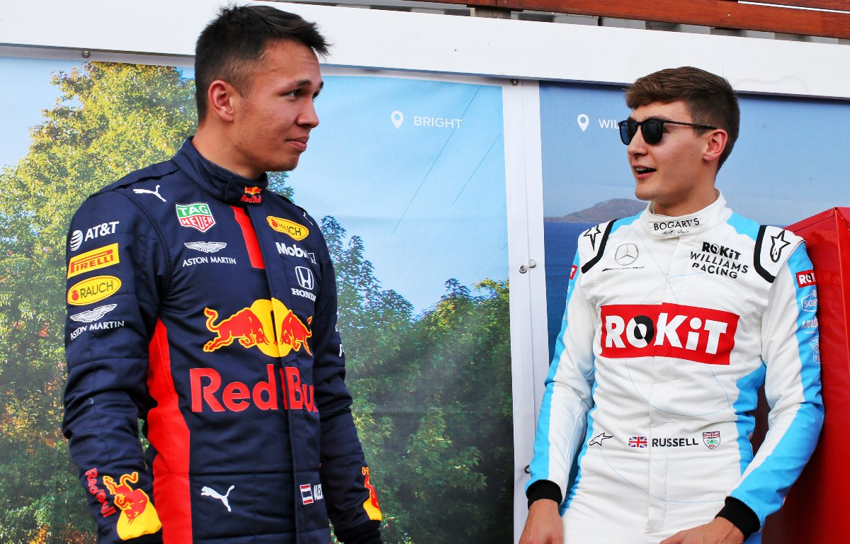 Alex Albon and George Russell