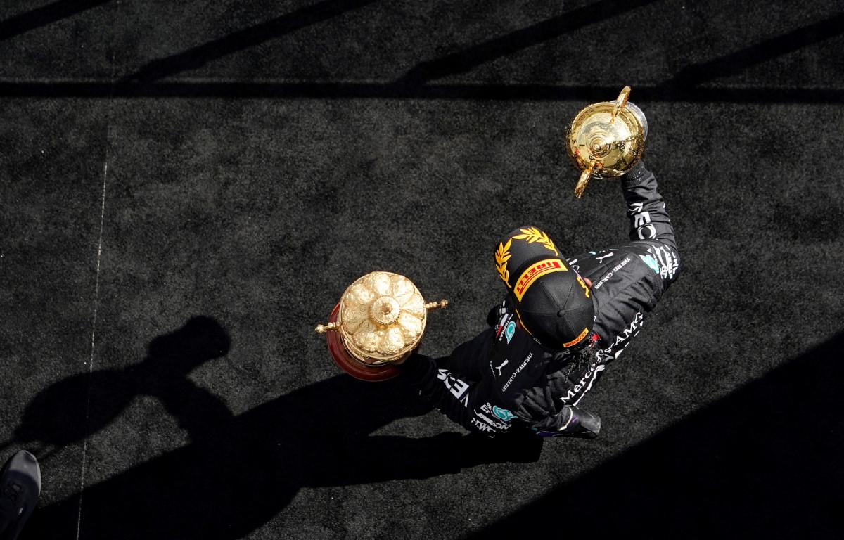 Lewis Hamilton trophies