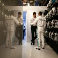 Lewis Hamilton and Toto Wolff PA