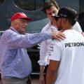Niki Lauda Toto Wolff Lewis Hamilton