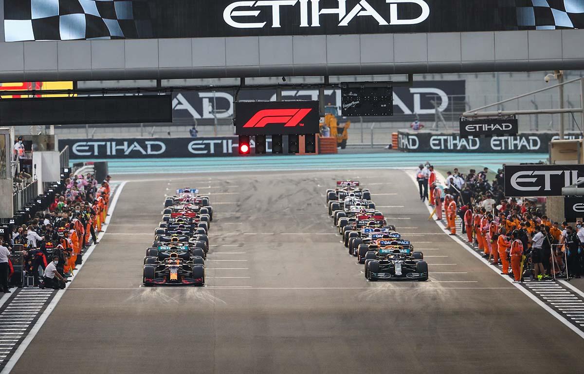 Abu Dhabi starting grid