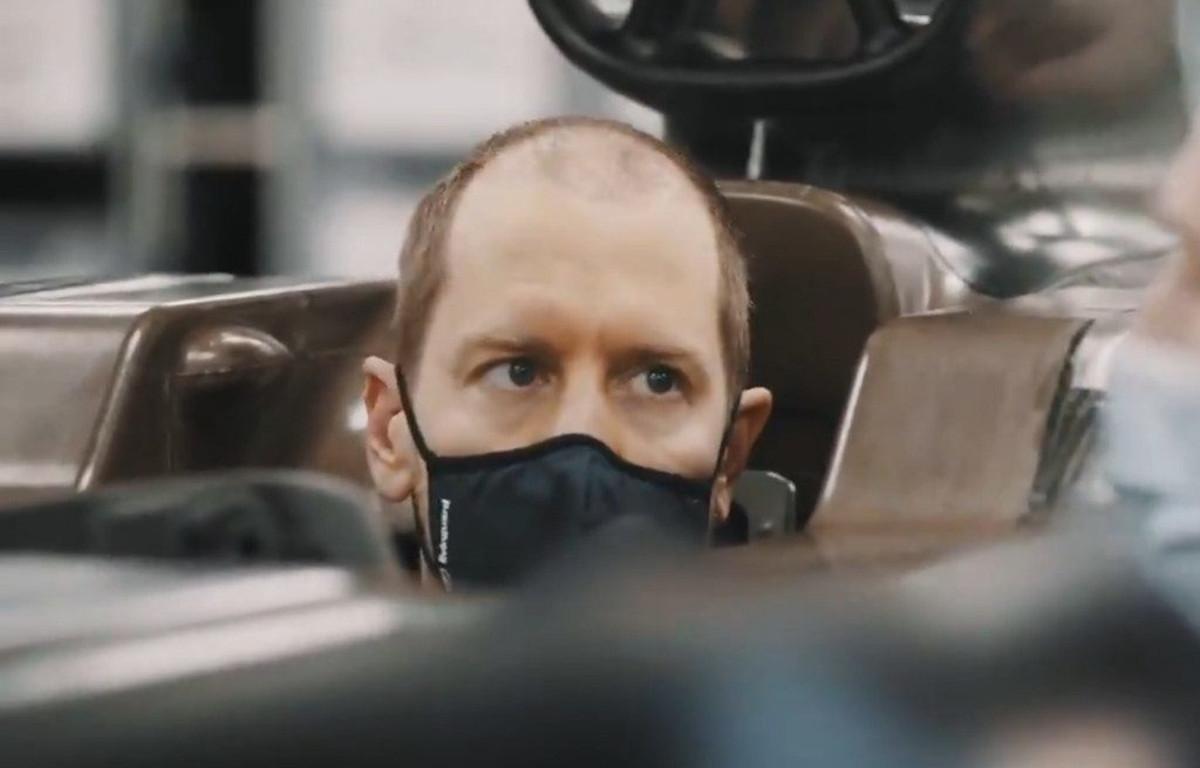 Sebastian Vettel Aston Martin seat fitting