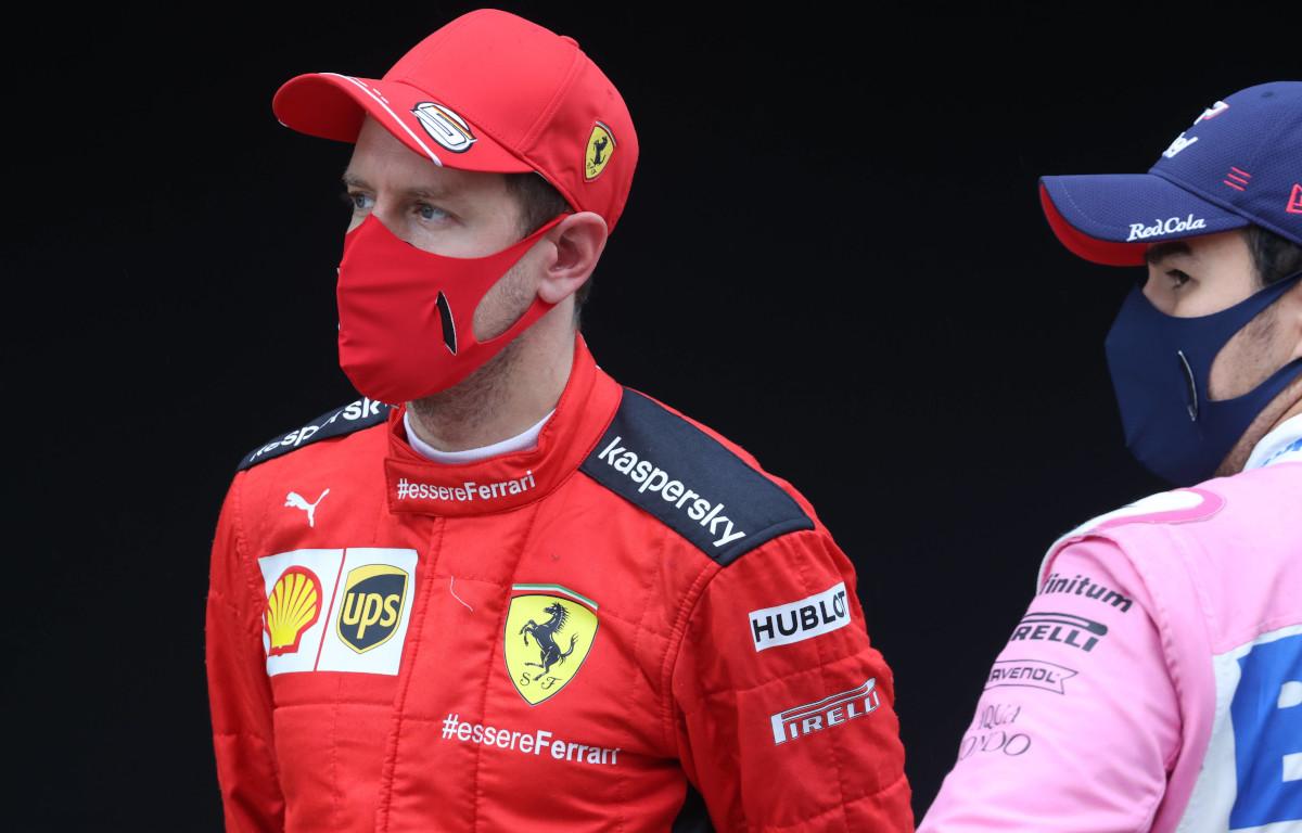 Sebastian Vettel and Sergio Perez
