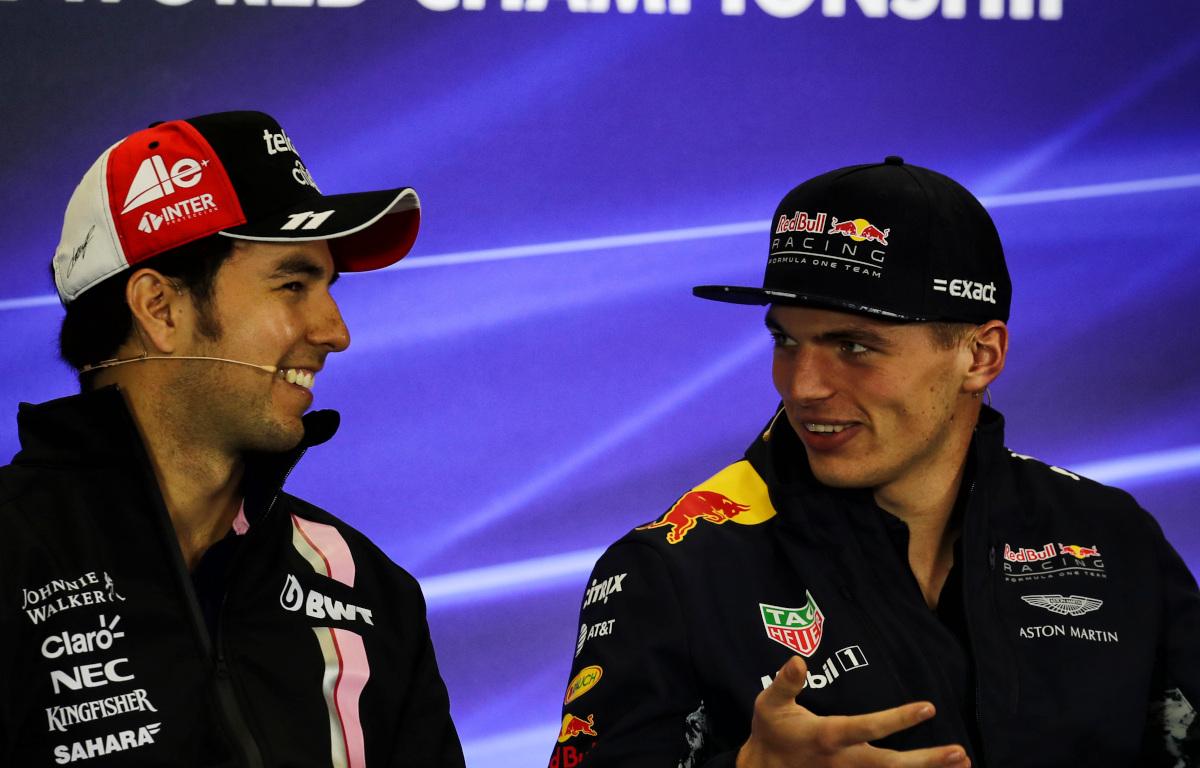 Max Verstappen and Sergio Perez press conference