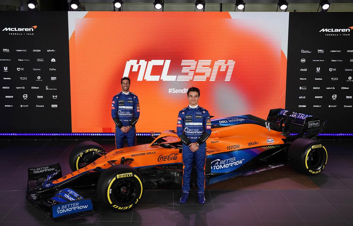 Daniel Riccardo and Lando Norris MCL35M