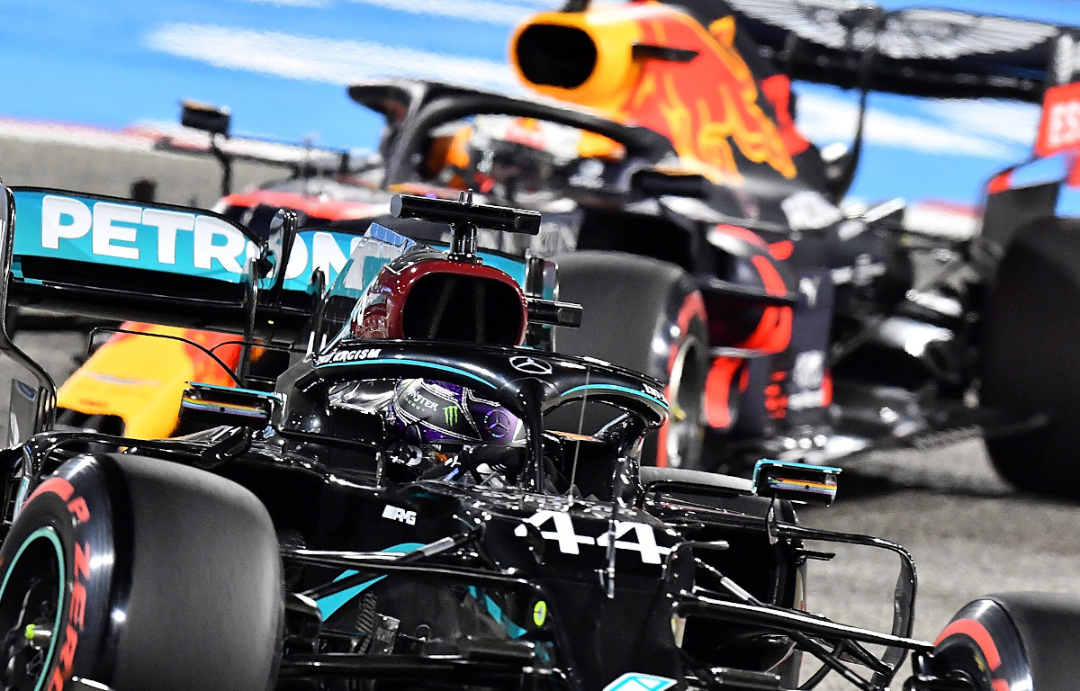Mercedes leads Red Bull
