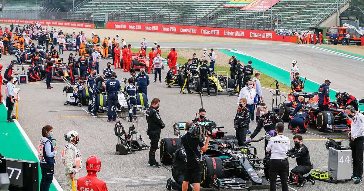 Imola starting grid PA