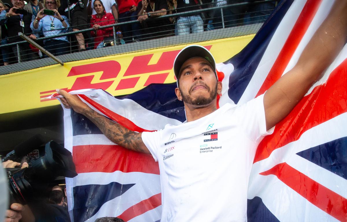 Lewis Hamilton British flag
