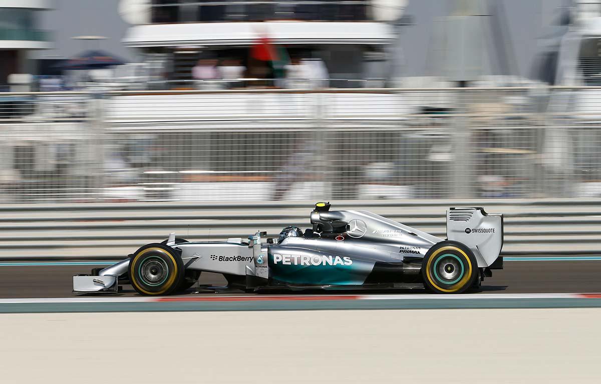 Mercedes W05 2014 Nico Rosberg Abu Dhabi PA