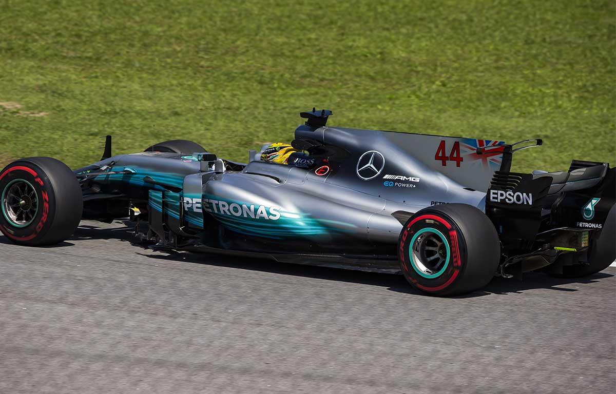 Mercedes W08 2017 Lewis Hamilton PA