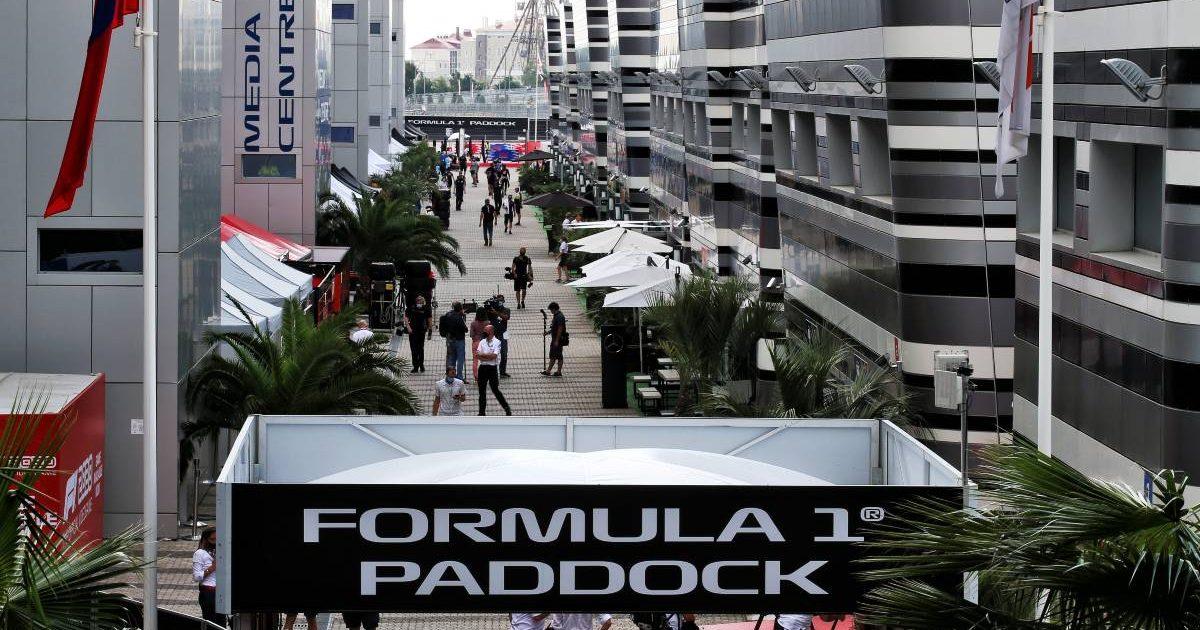 Formula 1 paddock