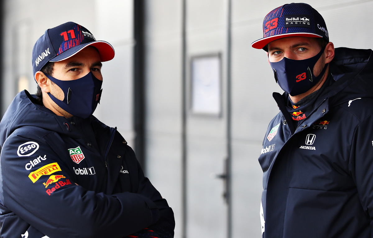 Sergio Perez and Max Verstappen Red Bull twitter