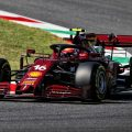 Charles Leclerc in special-liveried Ferrari at 2020 Tuscan Grand Prix
