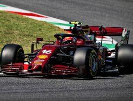 Charles Leclerc in special-liveried Ferrari at 2020 Tuscan Grand Prix