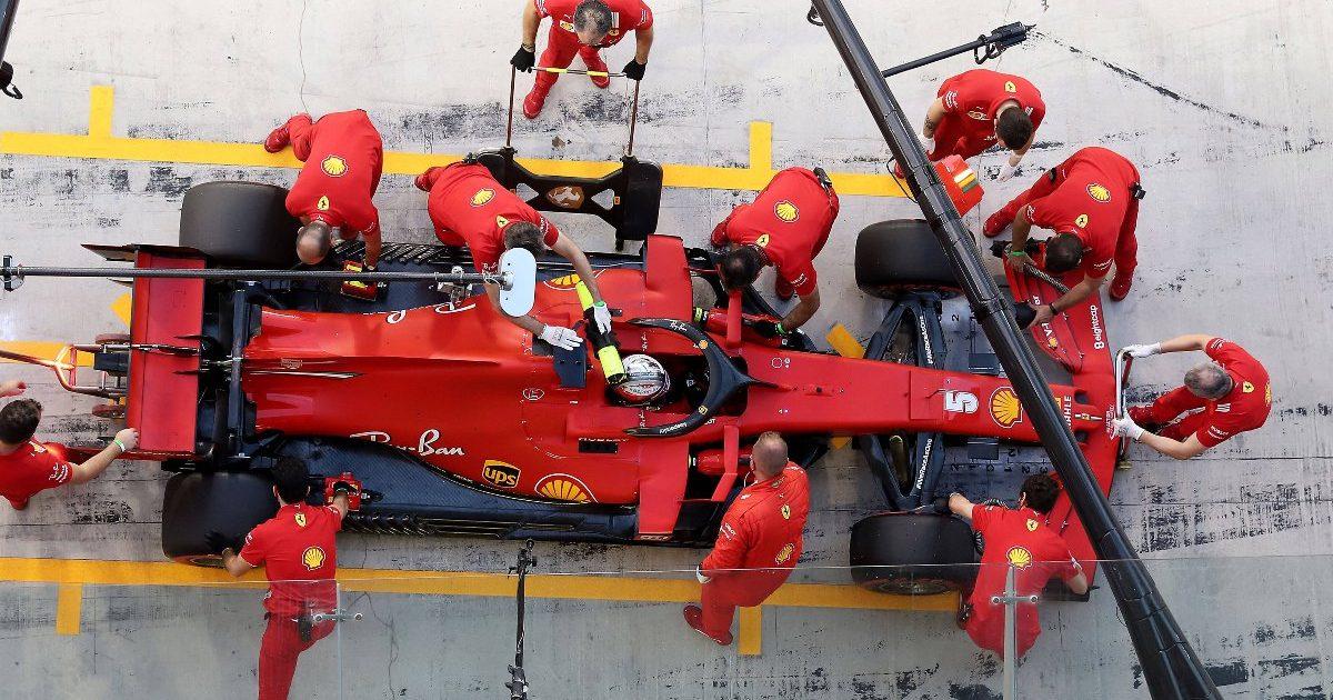 Ferrari team pit-stop