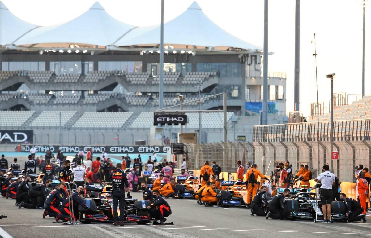 Formula 1 grid Abu Dhabi