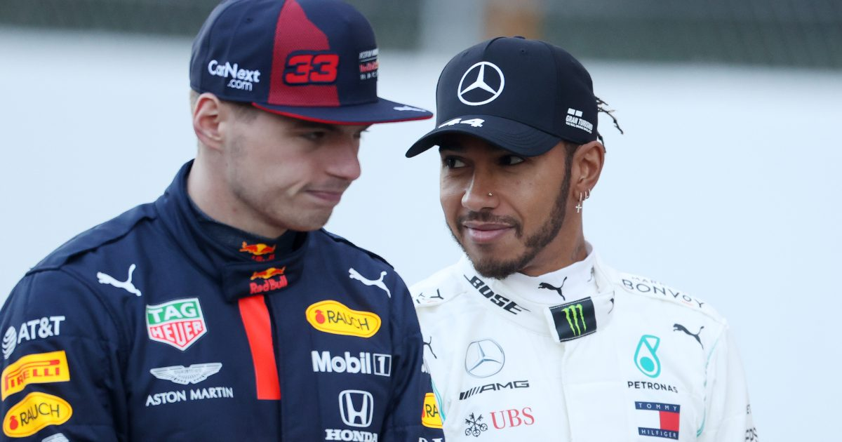 Lewis Hamilton and Max Verstappen pa