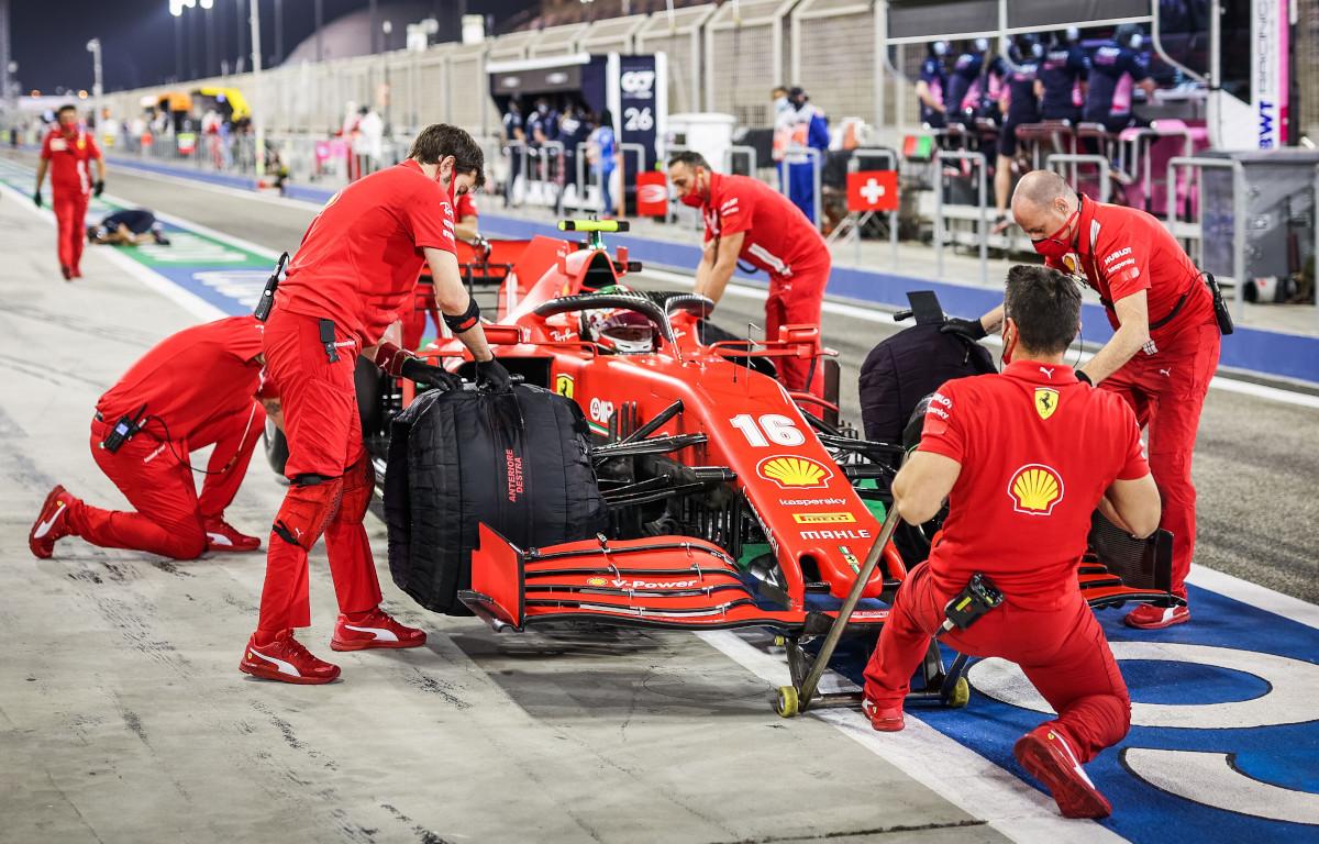 Charles Leclerc Ferrari pit lane