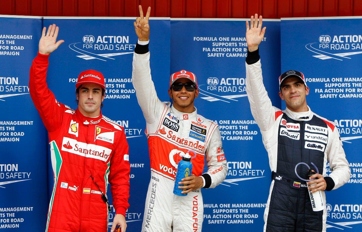 Fernando Alonso Lewis Hamilton Pastor Maldonado