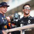 Max Verstappen and Daniel Ricciardo smiling