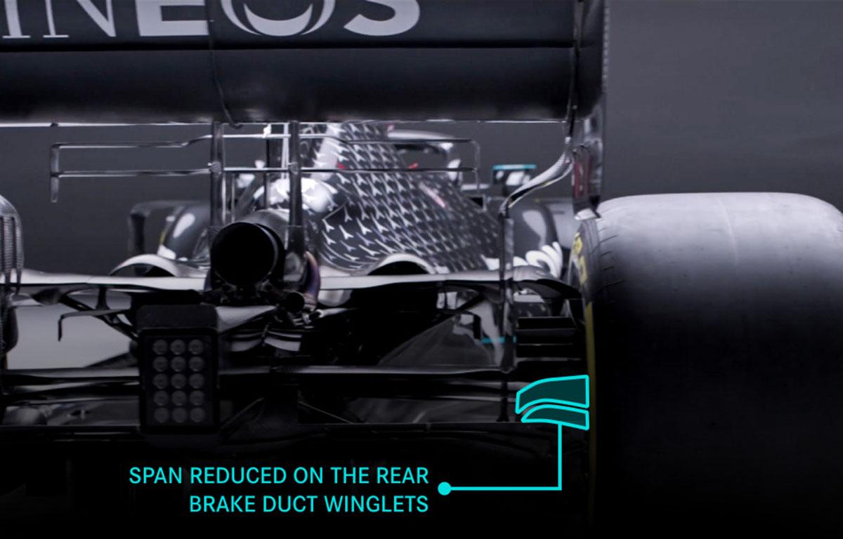 Mercedes W12 aero