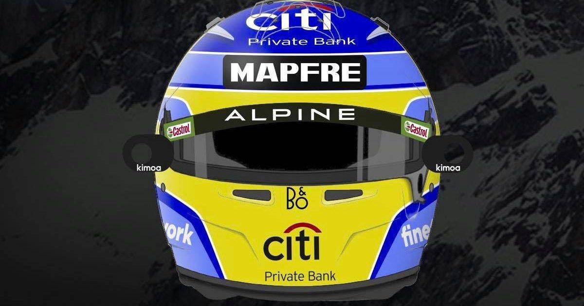 Fernando Alonso 2021 helmet