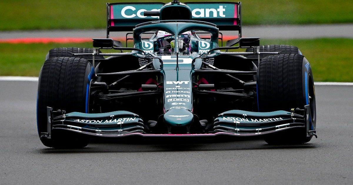 Sebastian Vettel Aston Martin shakedown