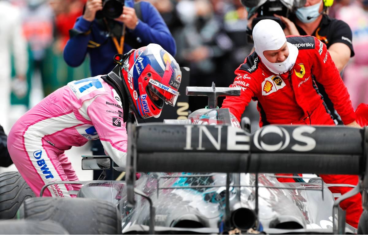 Sergio Perez Sebastian Vettel Mercedes