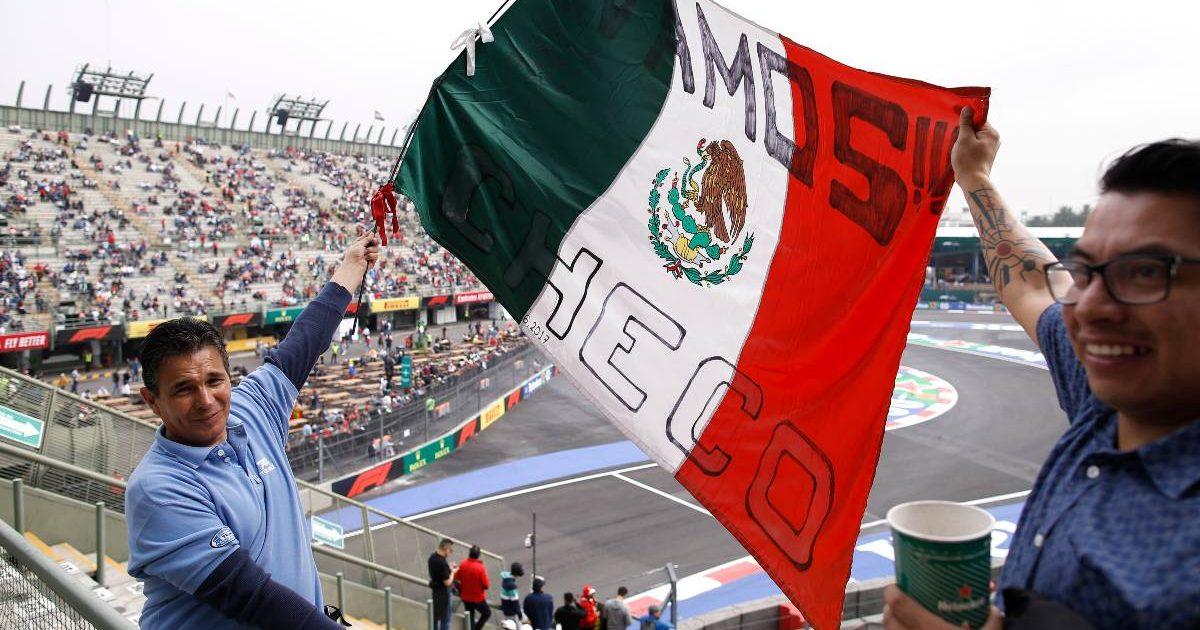 Sergio Perez Mexican fan flag