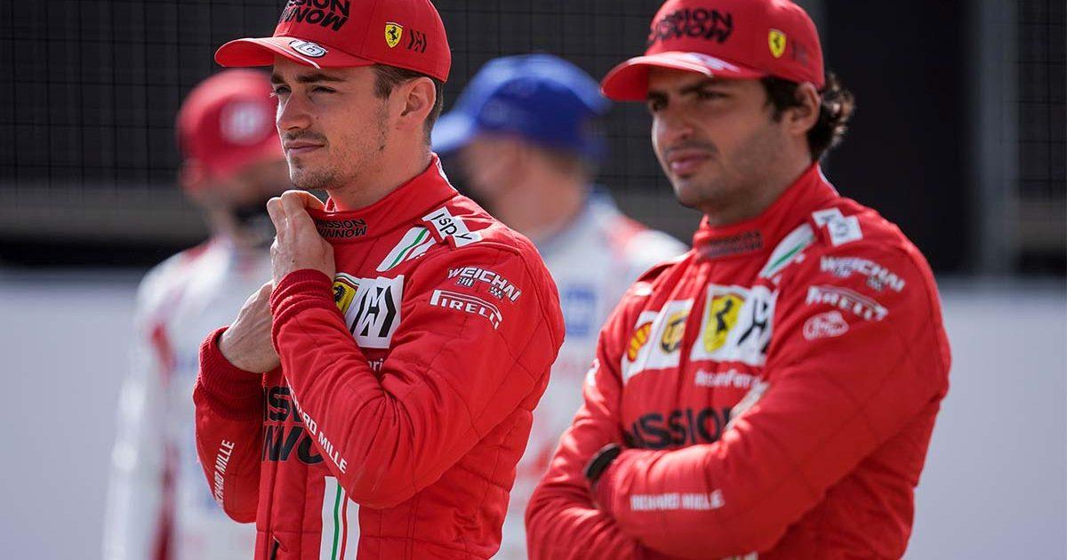 Carlos Sainz Charles Leclerc Ferrari PA