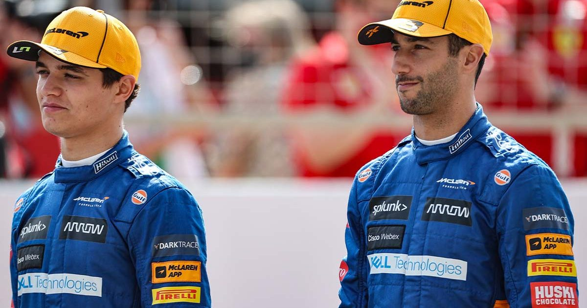Lando Norris Daniel Ricciardo McLaren PA