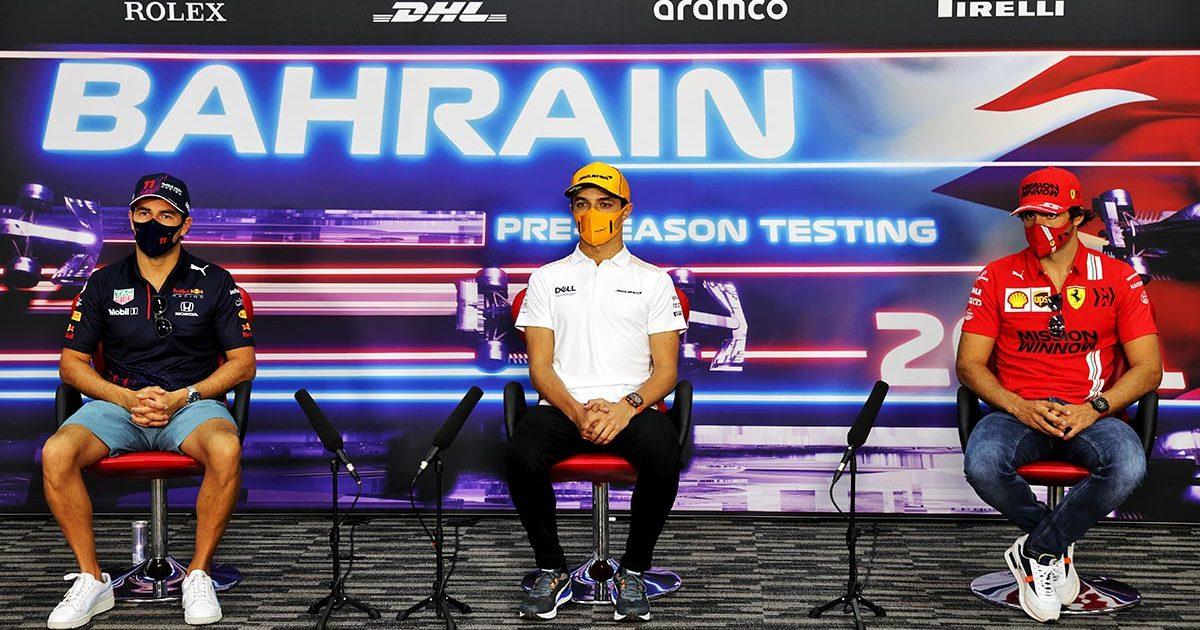Sergio Perez Lando Norris Carlos Sainz PA