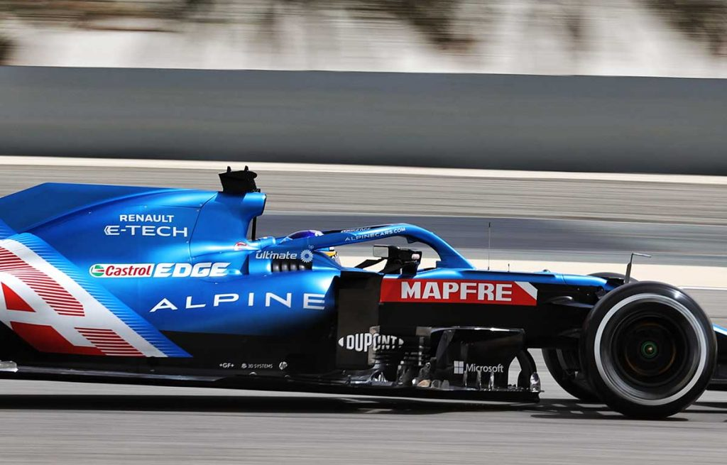 Fernando Alonso Alpine F1 Testing