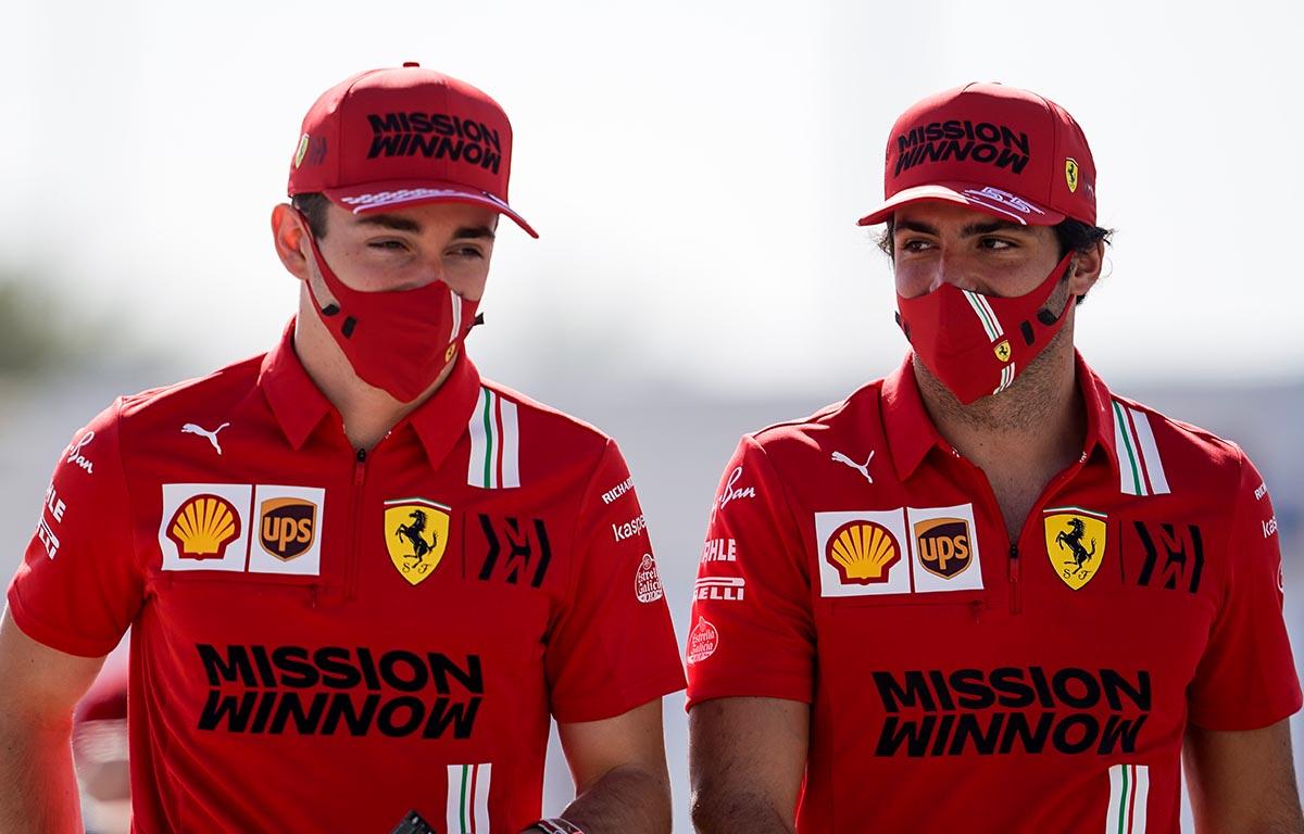 Charles Leclerc Carlos Sainz Ferrari PA